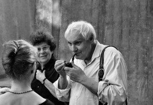 Jancsó Miklós Keleti Évával és Lőrinc Katival, Veszprém, 1998.05.10. (Eifert János felvétele)