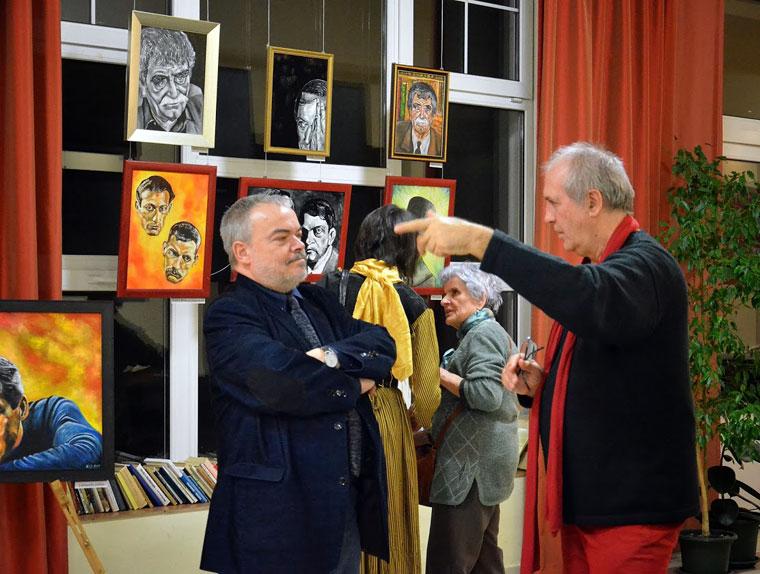 Fehér László festőművész és Eifert János, 2014.01.22. (Gergely Bea felvétele)