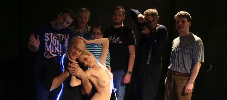 Csoportkép Müller Fannyval és a résztvevőkkel, 2014.01.26. (Bán István felvétele)