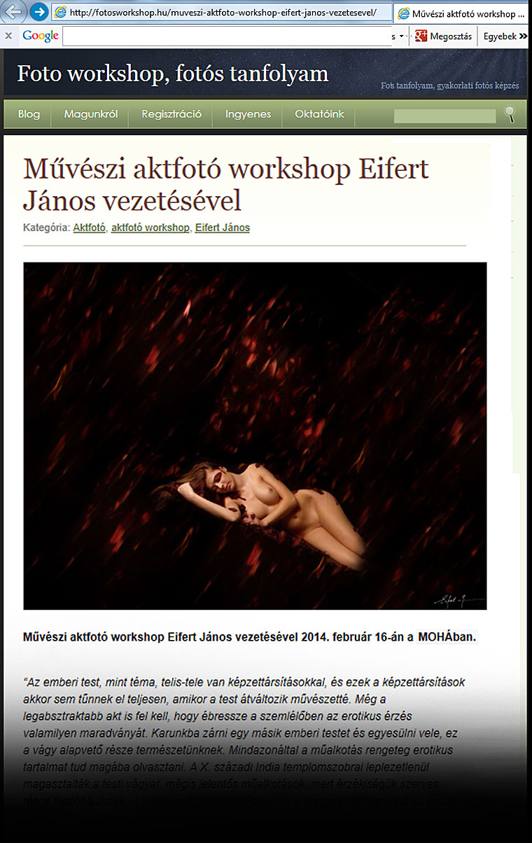 Eifert Aktworkshop a MOHA-ban, 2014.02.16.