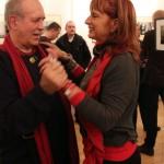 Eifert János és Móger Ildikó, Vancsó Zoltán kiállításán, 2014.02.17.  (Montvai Péter felvétele)