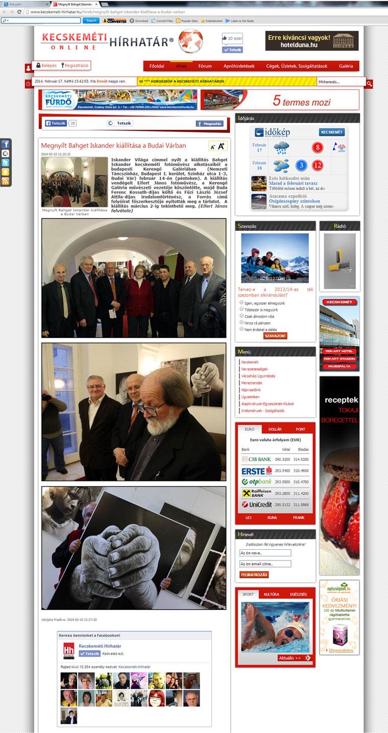 2014.02.17.-Kecskeméti Hírhatár Online