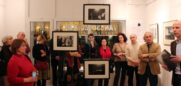 Vancsó Zoltán: Szunnyadó értelem, kiállításmegnyitó, 2014.02.17. (Eifert János felvétele)