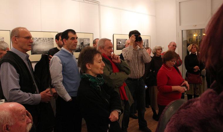 Vancsó Zoltán kiállításának megnyitóján, 2014.02.17. (Eifert János felvétele)