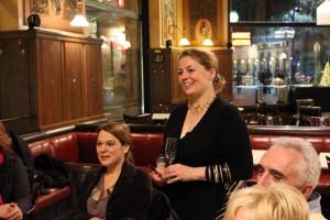 Judith barátaival a Centrál Kávéházban, Budapest, 2014.02.20. (Photo: Eifert János)