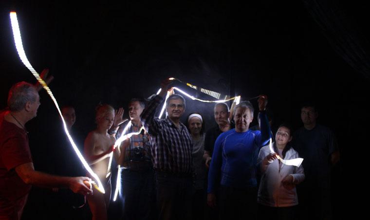Az aktworkshop résztvevői a MOHA-ban