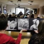 Eifert előadása a miskolci Református Művészetoktatási Iskola hallgatóinak, 2014.02.05. (Móré Péter felvétele)