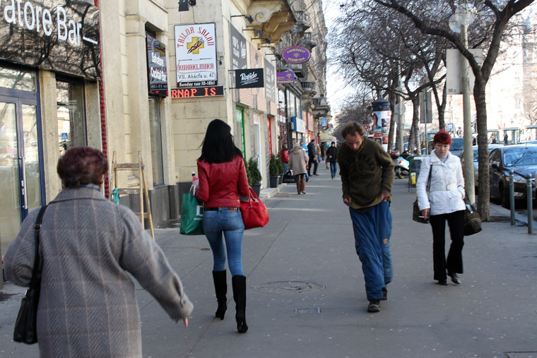 Budapest, VII. kerület, Erzsébet krt., 2014.03.06. (Eifert János felvétele)