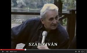 Szabó Iván szobrászművész a Vásárhelyről elszármazottak találkozóján, 1994. augusztus 29. (YouTube, 2014.03.16.)