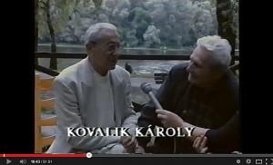 Kovalik Károly a Vásárhelyről elszármazottak találkozóján, 1994. augusztus 29. (YouTube, 2014.03.16.)