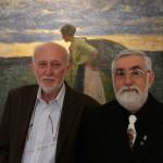 Csete Péter építész és Szenti Tibor író, néprajzkutató (Eifert János felvétele)
