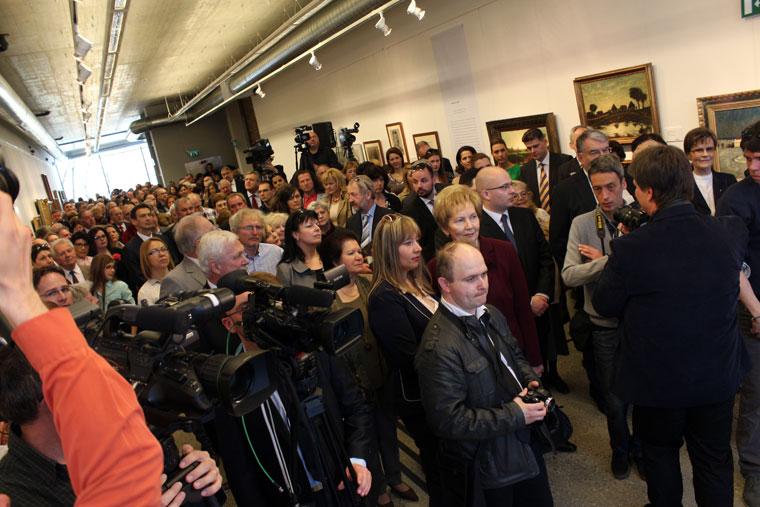 2014.03.30.-Koszta József gyűjteményes kiállításának megnyitója (Eifert János felvétele)