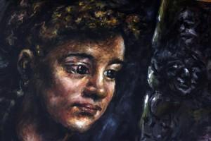 A Fedél Nélkül Művészeti Pályázatára érkezett képzőművészeti alkotások egyike (Eifert János reprodukciója)