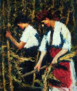 Koszta József: Kukoricatörés (1910-es évek második fele) Magangyűjtemény