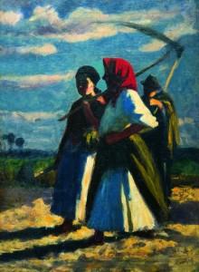 Koszta József: Mezei munkások (1910 körül) Szabó Antal Gyűjtemény