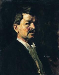 Koszta József: Önarckép (1915 körül) Magyar Nemzeti Galéria