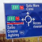 Útjelző tábla, Szilágyság, Románia, 2013.10.16. (Eifert János felvétele)