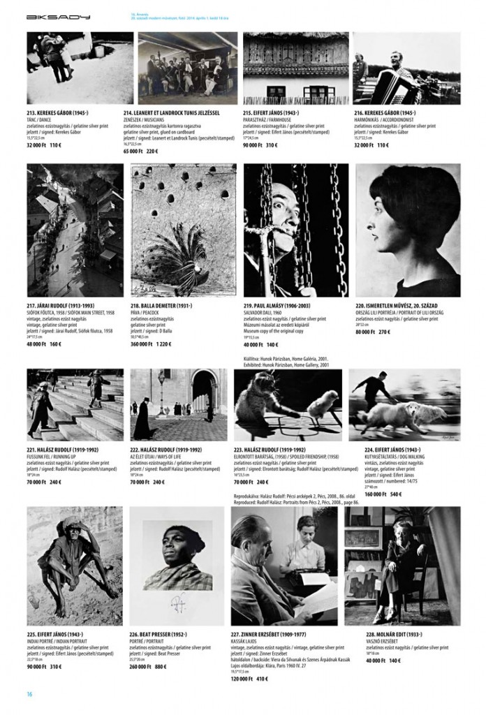 Biksady Galéria, 16. Árverés, 2014.04.01.