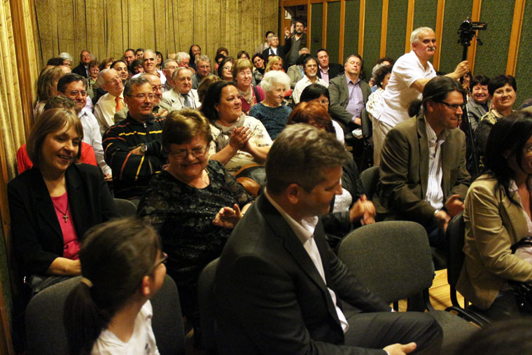 A könyvbemutató közönsége, 2014.04.08. (Eifert János felvétele)