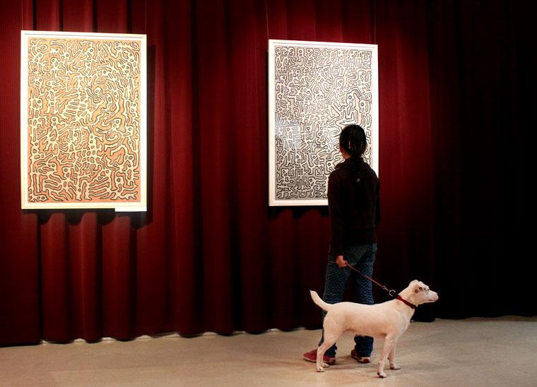 Olajos György kiállításának megnyitóján, 2014.04.18. (Eifert János felvétele)