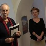 Eifert János megnyitja Varga István kiállítását (Szőcs Tamás felvétele)