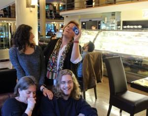 Eifert Kata, Eifert Agnes Sztaniusz, dr. Eifert Gabi, Leonidas Haralambos (Eifert János felvétele)