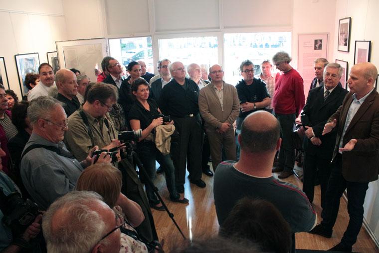 MA®KOVI©S FE®EN©: AKASZTÁSRA ÍTÉLVE! című kiállításának megnyitóján az Artphoto Galériában, Budapest, 2014. május 19. (Eifert János felvétele)