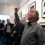 Sándor György Kossuth-díjas humoralista megnyitja Markovics Ferenc kiállítását (Eifert János felvétele)