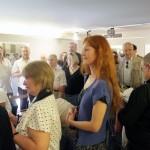 Gergely Beatrix és mások Balla Demeter kiállításának megnyitóján, Cultiris Galéria (Photo: Eifert János)