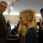 Kincses Károly múzeológus és Lőrinc Katalin táncművész Balla Demeter kiállításának megnyitóján, Cultiris Galéria (Photo: Eifert János)