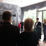 Béres Sándorné búcsúztatása a rákoskeresztúri Új Köztemetőben (Eifert János felvétele)