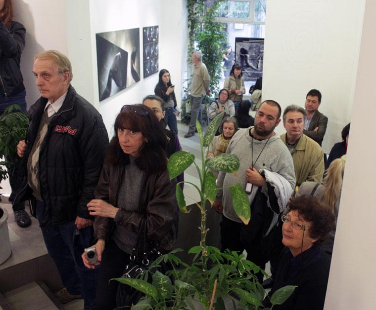 Eifert János ARS POETICA c. kiállításának megnyitóján a Szófiai Magyar Kulturális Intézetben, 2014.06.03.