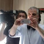 Az Éjjel-nappal Budapest rendezője és operatőre (Eifert János felvétele)