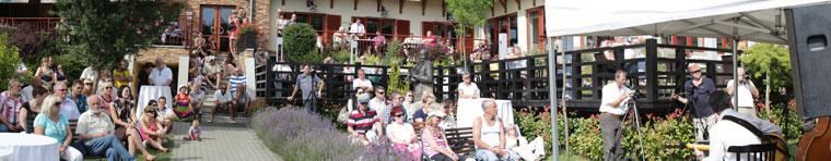 Meglepetéskoncert a Tó Welllness Hotel kertjében (Photo: Eifert János)
