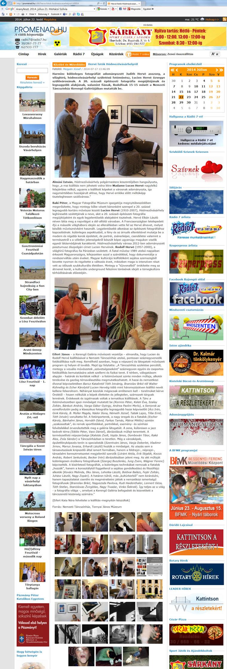2014.07.17.-Promenad.hu, Hervé fotók Hódmezővásárhelyről
