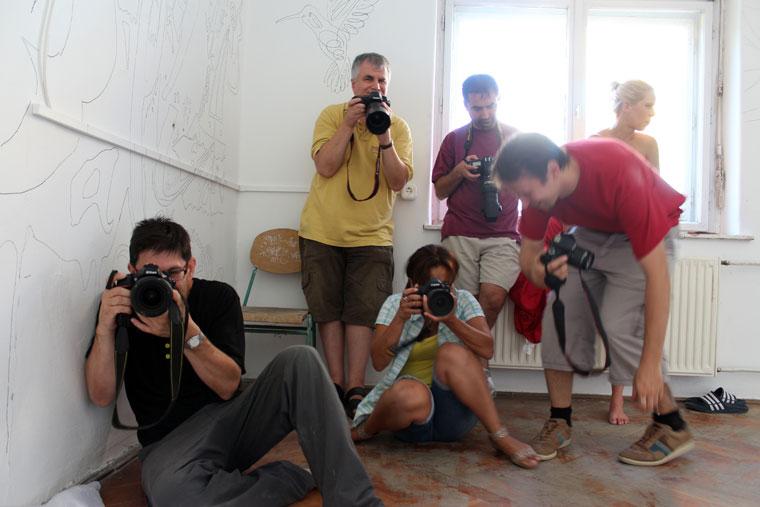 Dolgozik a csapat (Eifert János felvétele) 2014.08.