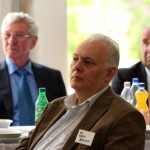 Dr. Berki Sándor a Vásárhelyről elszármazottak találkozóján, Mártély, 2014.08.17. (Eifert János felvétele)