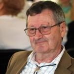 Gyulai József professzor a Vásárhelyről elszármazottak találkozóján, Mártély, 2014.08.17. (Eifert János felvétele)