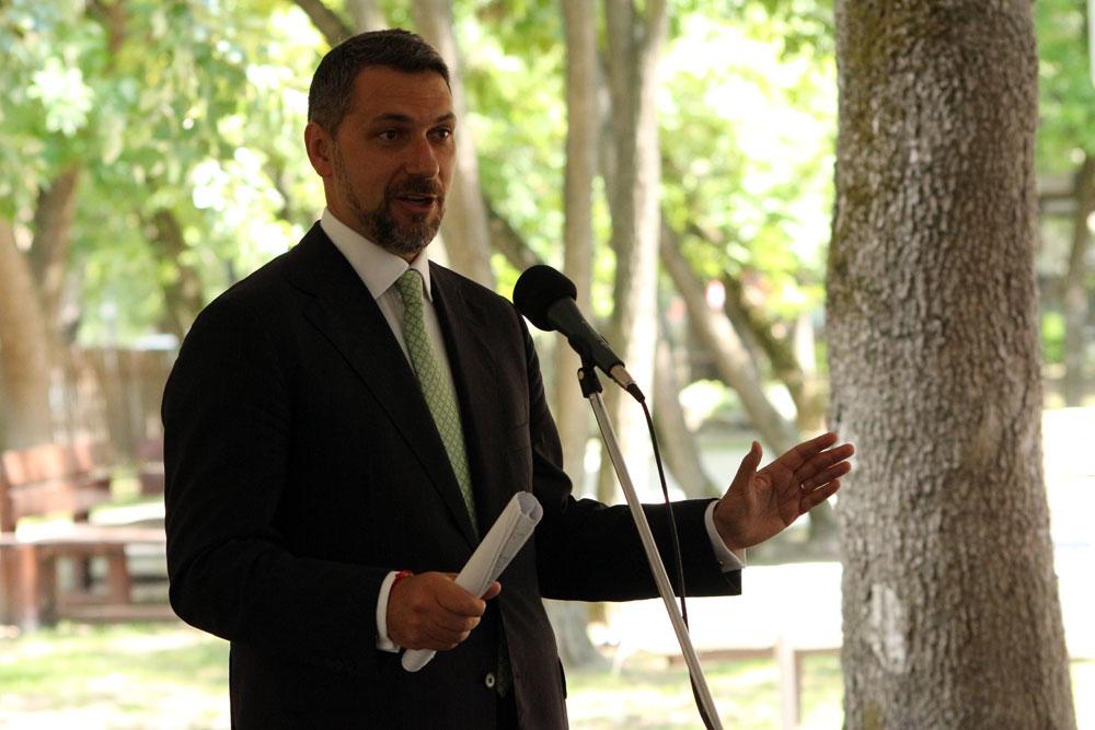 Lázár János miniszter a Vásárhelyről elszármazottak találkozóján, Mártély, 2014.08.17. (Eifert János felvétele)