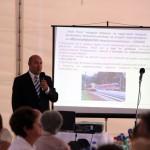 Mucsi László előadásában a fejlesztésekről, beruházásokról beszél (Eifert János felvétele)