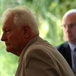 Dr. Blazovich László a Vásárhelyről elszármazottak találkozóján, Mártély, 2014.08.17. (Eifert János felvétele)