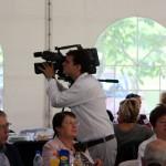 A VTV operatőre munkában (Vásárhelyről elszármazottak találkozója, Mártély, 2014.08.17.) Photo: Eifert János