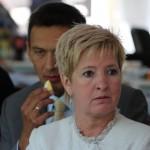 Dr. Havasi Katalin a Vásárhelyről elszármazottak találkozóján (Eifert János felvétele)