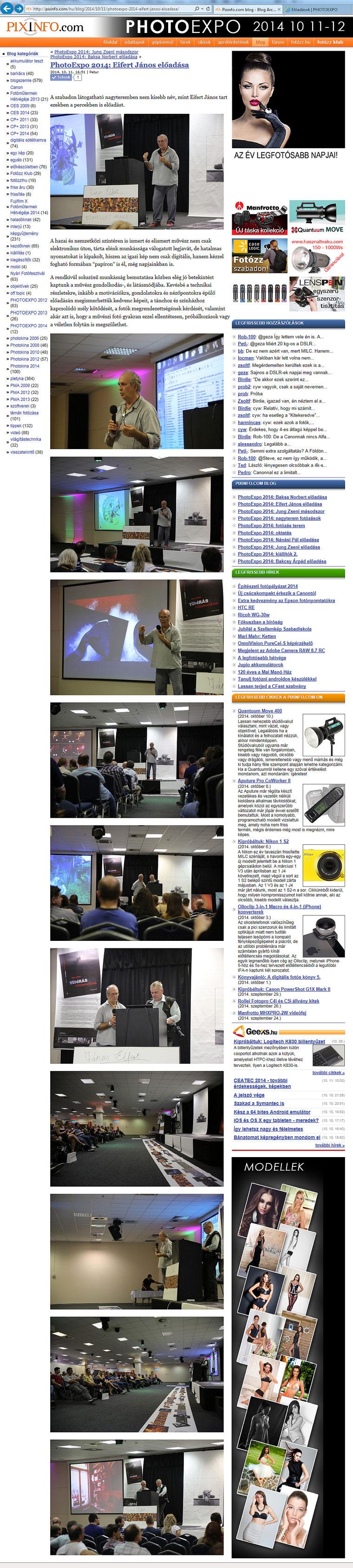 2014.10.11.-PIXINFO.com-Photoexpo 2014: Eifert János előadása