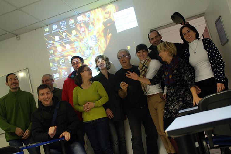 A FotóOktatás.hu haladó szintű kortárs művészfotó tanfolyam hallgatói, 2014.11.04. (Eifert János felvétele)
