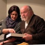 Újlaki Dénes felesége és Haumann Péter színész. (Eifert János felvétele)