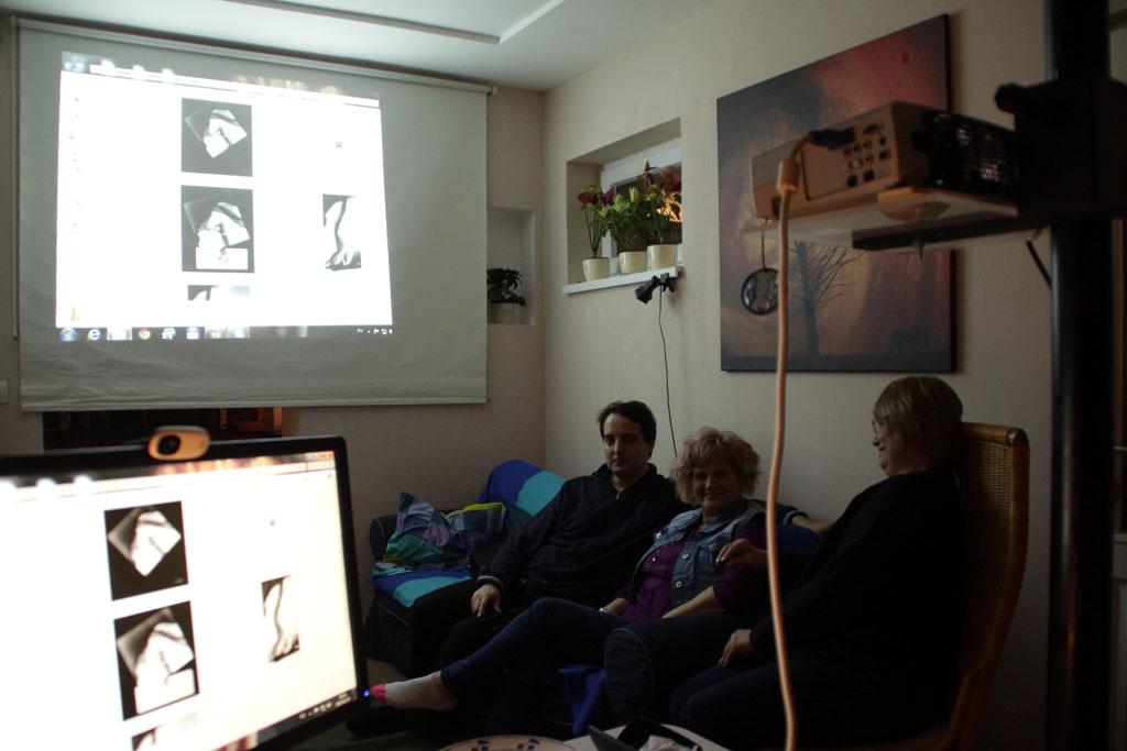 2015.02.27.-Képértékelés, Almási Dániel, Bernáth Bizsu és Gergely Beatrix részvételével (Eifert János felvétele)