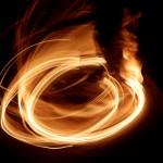 Tűz, hosszú expozícióval (Eifert János felvétele)