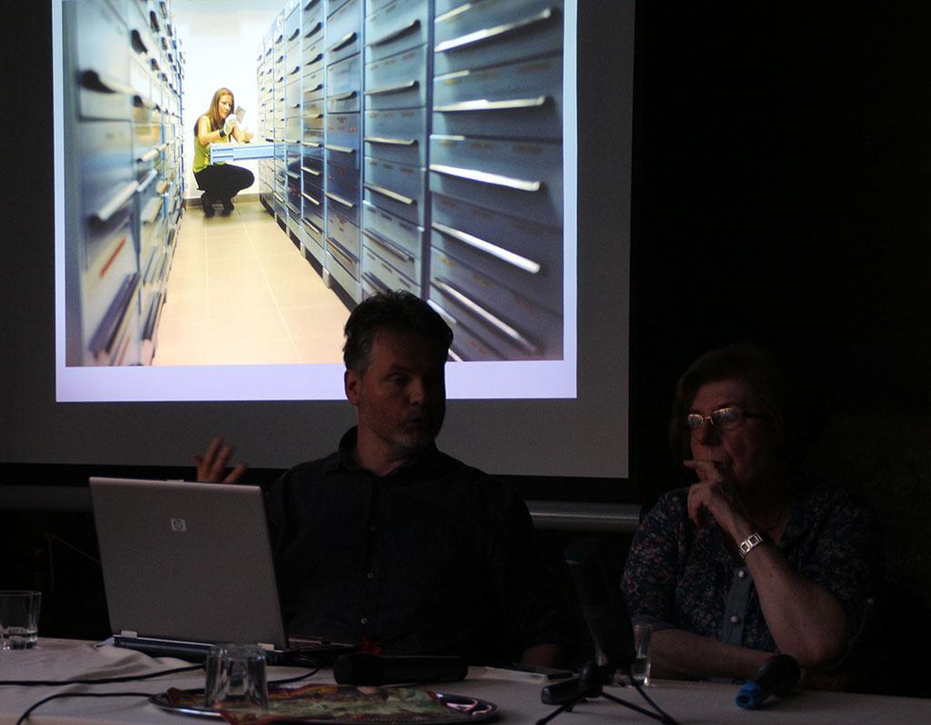 2015.05.19.-Hajnal Péter, az 123RF fotóügynökség magyarországi képviseletének ügyvezetője, Keleti Éva fotográfus (Eifert János felvétele)