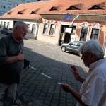 2015.08.28.-Markovics Ferenc és Komáromi Zoltán a Vendéglátóipari Múzeum előtt (Eifert János felvétele)